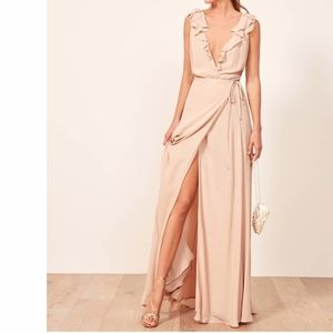 Reformation Peppermint Dress in Champagne NWT